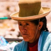 Knitting Woman, Peru