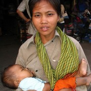 Cambodia: Khmer with Baby